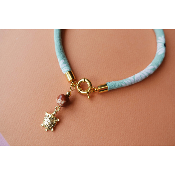 ELEMENTS - Water Green Thin Necklace