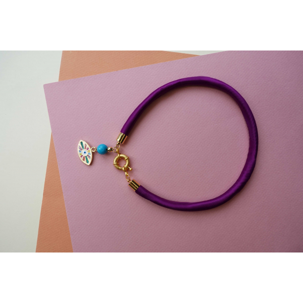 ELEMENTS - Purple Thin Necklace
