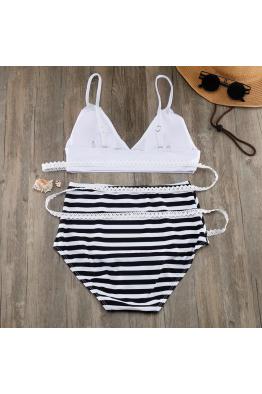Lime & Lemon Swimwear Lime & Lemon Yüksek Bel Bağlamalı Bikini Takım LL18427