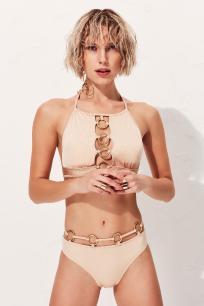 Circle Ten Rengi Yüksek Bel Bikini Altı LM18202 Nude