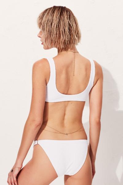 Tluen Beyaz Üçgen Toparlayıcı Bikini Üstü LM18104 White