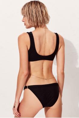Less is More Tluen Siyah Üçgen Toparlayıcı Bikini Üstü LM18104 Black