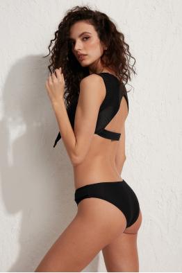 Less is More Mykonos Siyah Bağlamalı Bikini Üstü LM18105 Black