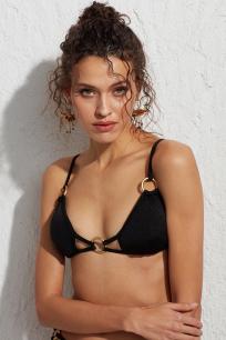 Lole Üçgen Siyah Halka Detaylı Bikini Üstü LM18108 Black