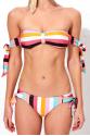 Pearl Desenli Straplez Bikini Üstü LM18112 Rainbow