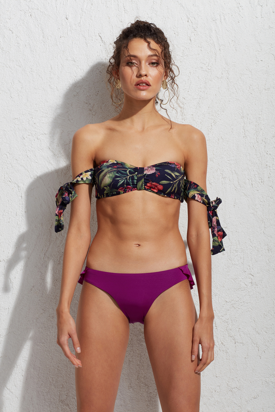 Pearl Desenli Straplez Bikini Üstü LM18112 Jungle