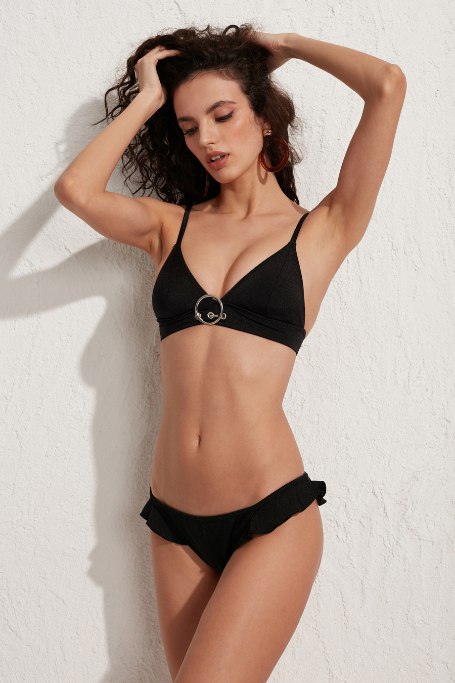 Rock Siyah Üçgen Bikini Üstü LM18113 Black