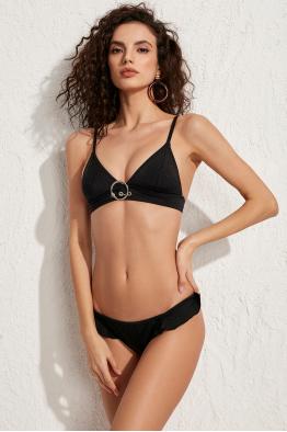 Less is More Rock Siyah Üçgen Bikini Üstü LM18113 Black