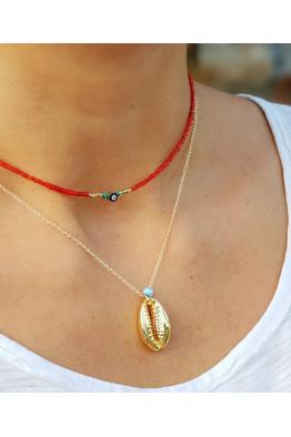 Make a Wish Altın Rengi Deniz Kabuklu Kolye