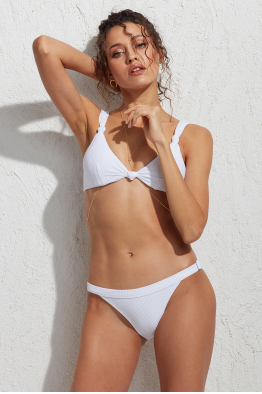 Less is More Tluen Ayarlanabilir Bikini Altı Beyaz LM18206_White