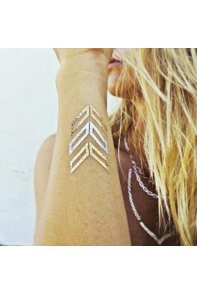 Flash Tattoo- Metalik Geçici Dövme 22 Flash Tattoo- Metalik Geçici Dövme 22