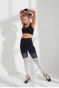 Siyah Beyaz File Detaylı Spor ve Yoga Taytı LMA19202