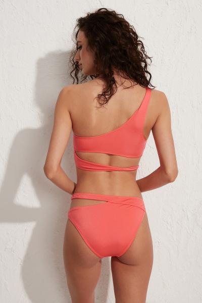 Roma Tek Omuz Bikini Üstü LM19101 Somon