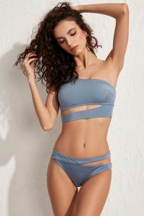 Roma Mavi Tek Omuz Bikini Üstü LM19101 Blue