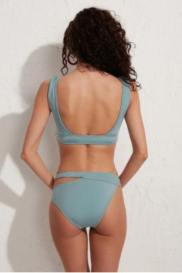 Less is More Sapphire Askılı Toparlayıcı Bikini Üstü LM19102 Yeşil