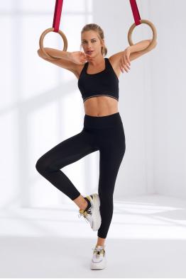 Less is More Siyah Yüksek Bel Spor ve Yoga Taytı 208212_SIYAH