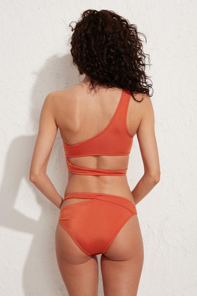 Roma Tek Omuz Turuncu Bikini Üstü LM20101_Orange
