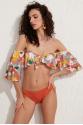 Helen Straplez Tak Çıkar Kollu Fırfırlı Bikini Üstü LM20107_Hawai