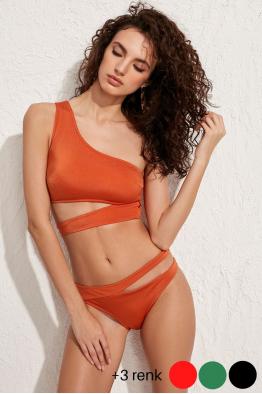 Less is More Dionis Turuncu Bikini Altı LM20201_Orange