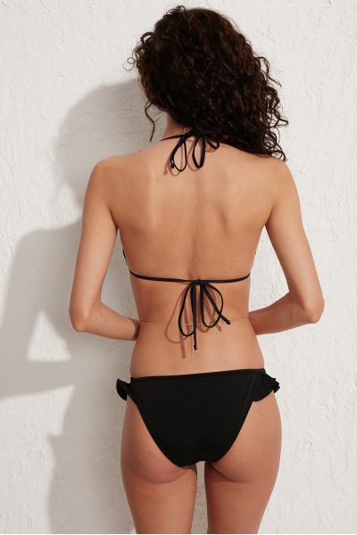 Anya Fırfırlı Siyah Bikini Altı LM20203_Black