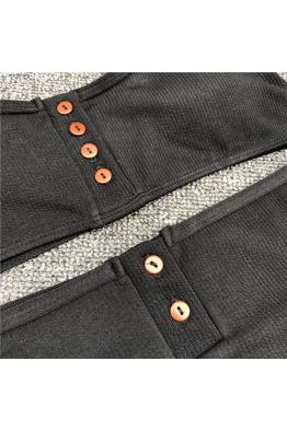 Lime & Lemon Swimwear Lime & Lemon  Düğmeli Bikini Takımı Siyah LL18407