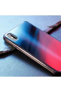Apple iPhone X Kılıf Baseus Glass Sparkling Case