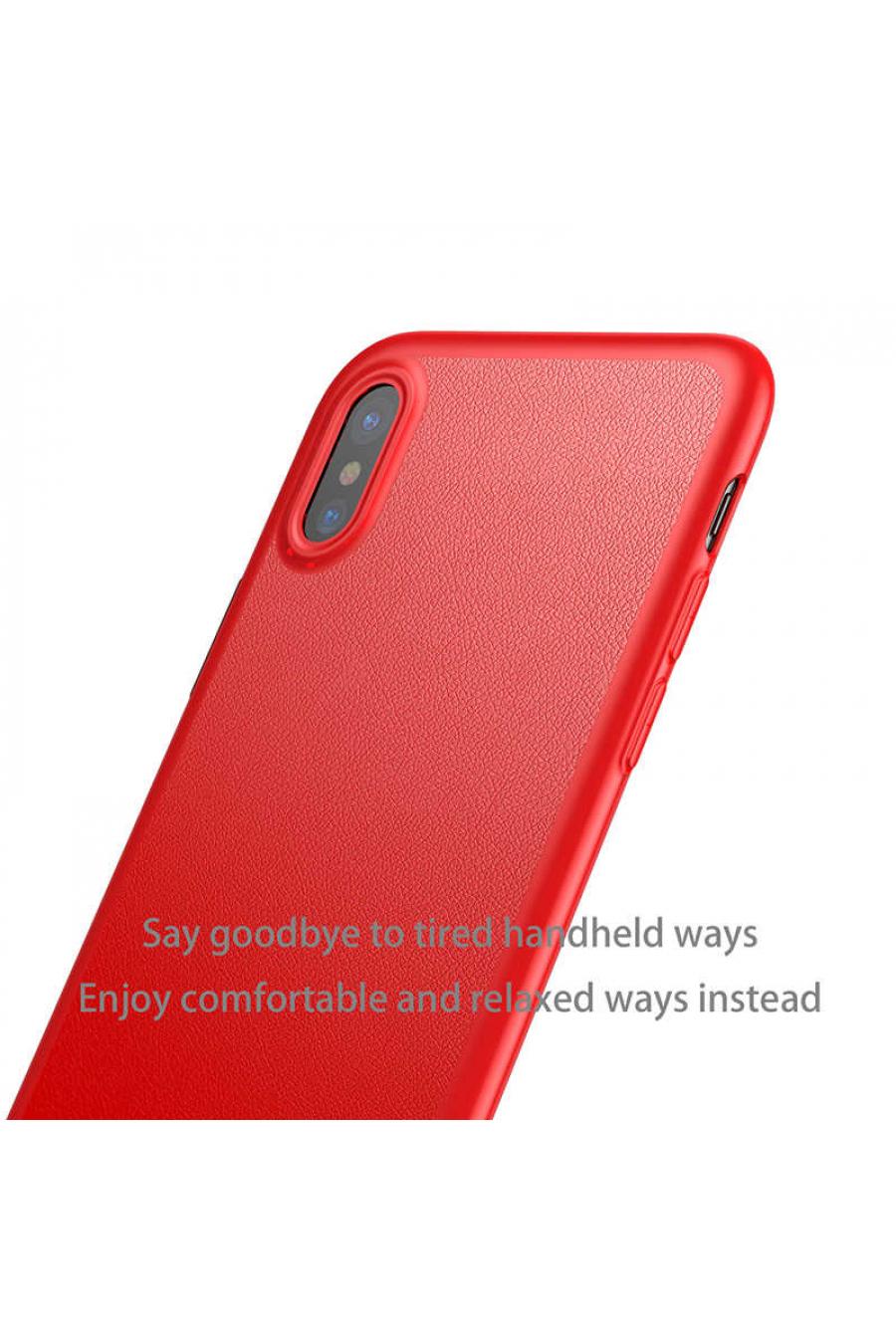 Apple iPhone X Kılıf Baseus Happy Watching Supporting Case