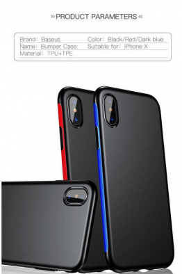 Baseus Apple iPhone X Kılıf Baseus Bumper Case