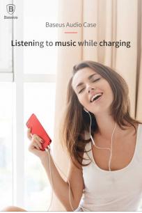 Apple iPhone 7 Kılıf Baseus Audio Case