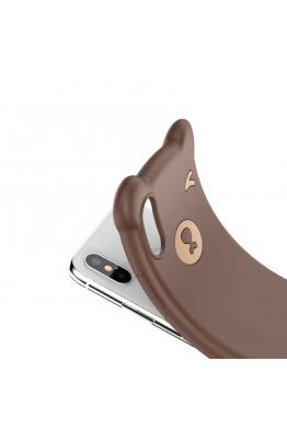 Baseus Apple iPhone XS Max 6.5 Kılıf Baseus Bear Silikon