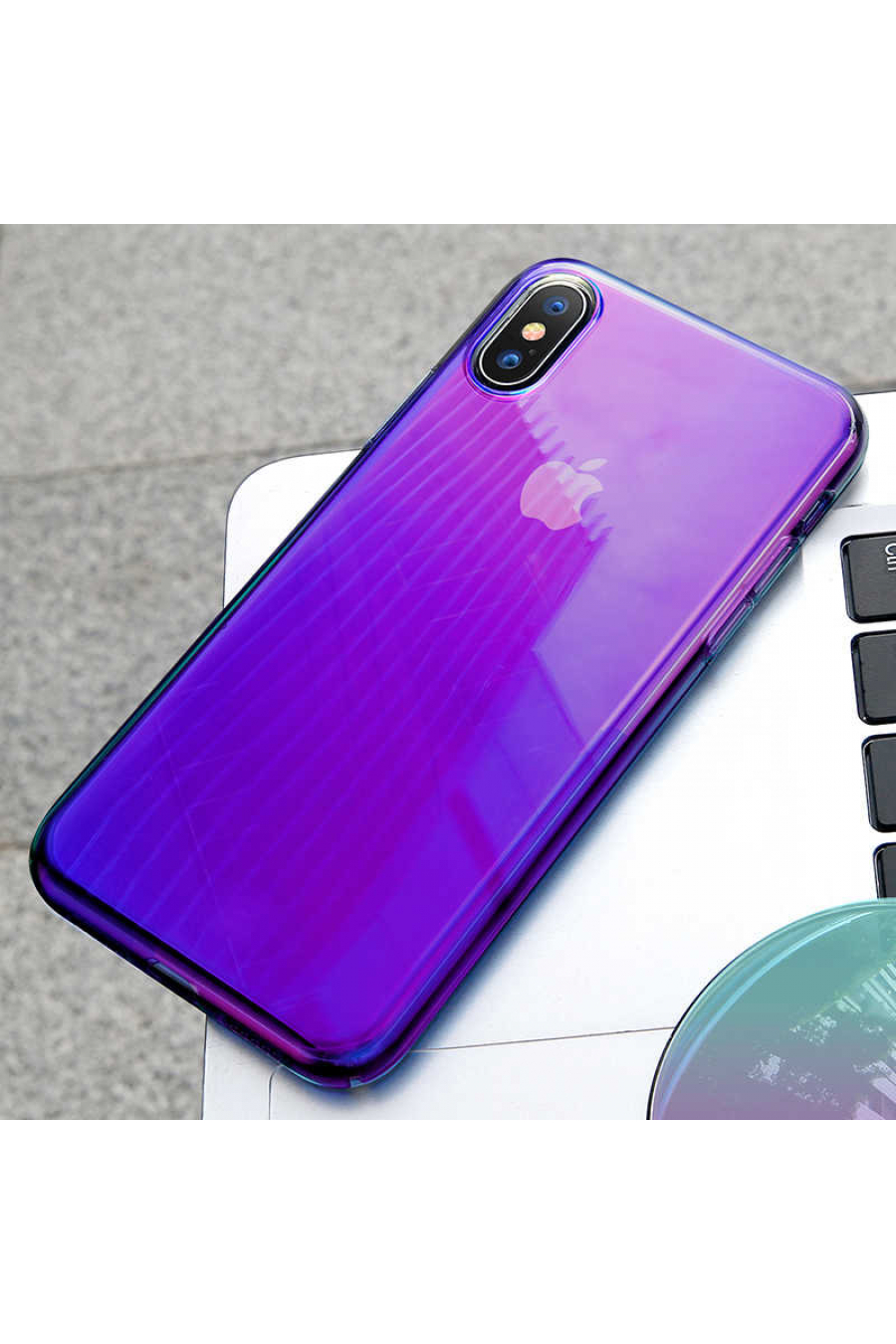 Apple iPhone XS 5.8 Kılıf Baseus Glow Case