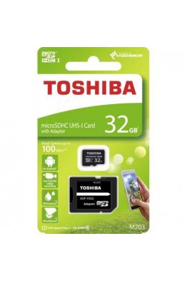Toshiba Toshiba 32 GB Micro SDHC UHS-1 Class10 Hafıza Kartı THN-M203K0320EA