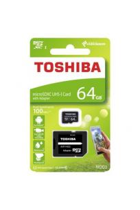 Toshiba 64 GB Micro SDHC UHS-1 Class10 Hafıza Kartı THN-M203K0640EA