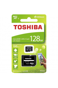 Toshiba 128 GB Micro SDHC UHS-1 Class10 Hafıza Kartı THN-M203K1280EA