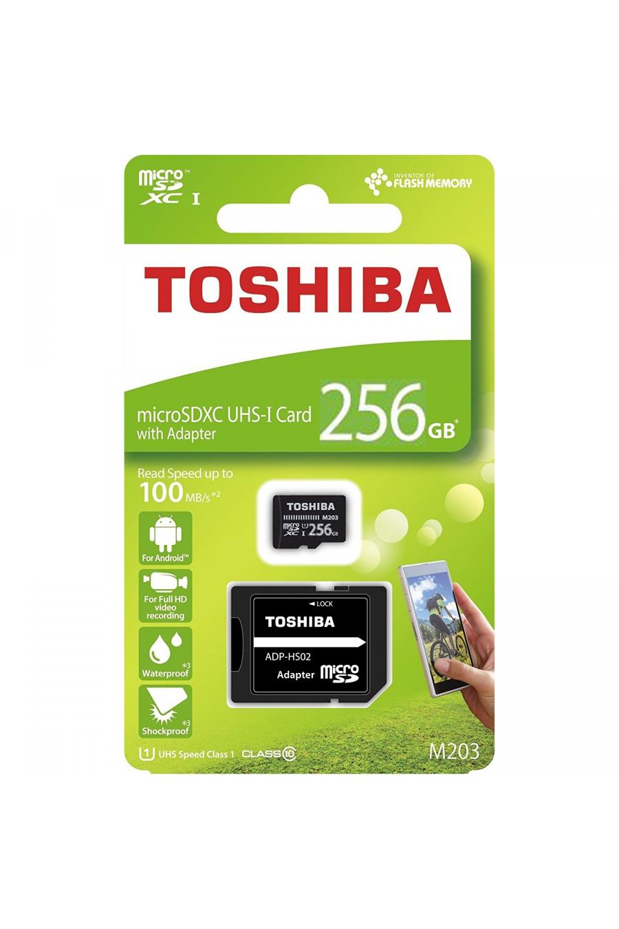 Toshiba 256 GB Micro SDHC UHS-1 Class10 Hafıza Kartı THN-M203K2560EA