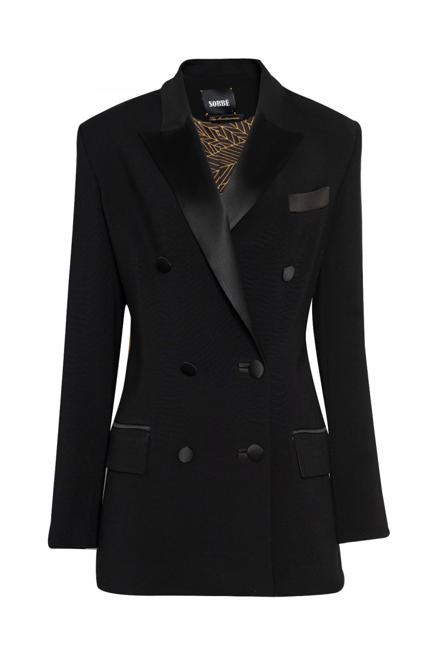 DOUBLE BREASTED BLACK TUXEDO SUIT