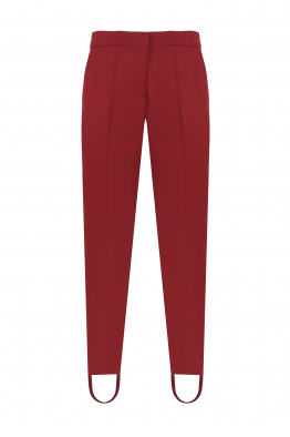 Sorbé REMOVABLE LOWER BANDS BURGUNDY PANTS