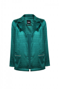 PLEAT JACKET BUTTONLESS GREEN