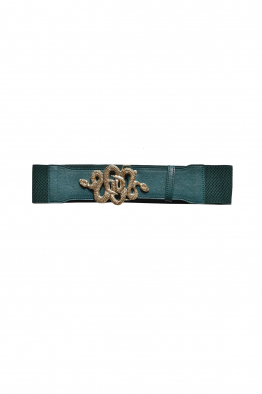 Sorbé TWIN SNAKES BELT GREEN