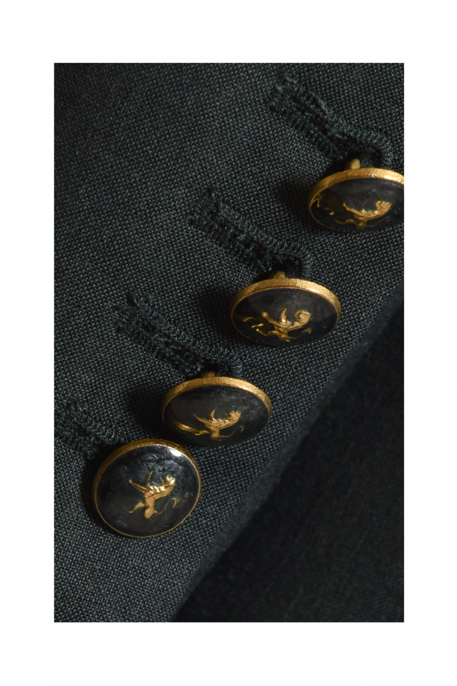 6 BUTTONS DOUBLE BREASTED OIL GREEN