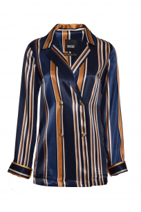 SHIRT JACKET DARK BLUE STRIPES