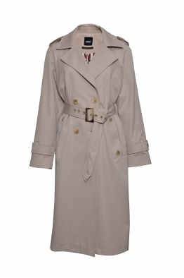 Sorbé TRENCH COAT DOUBLE BREASTED EPAULETS SAND