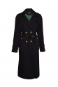 TRENCH COAT DOUBLE BREASTED EPAULETS BLACK ORCHID
