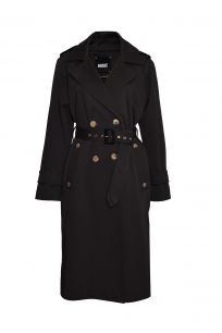 TRENCH COAT DOUBLE BREASTED EPAULETS ANTHRACITE