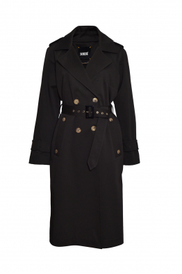Sorbé TRENCH COAT DOUBLE BREASTED EPAULETS ANTHRACITE