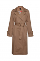 TRENCH COAT DOUBLE BREASTED EPAULETS CAFFE LATTE