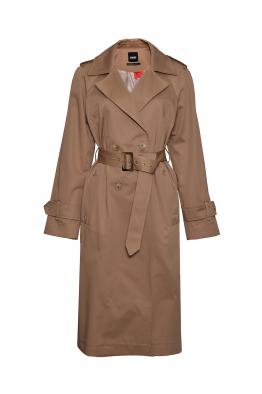 Sorbé TRENCH COAT DOUBLE BREASTED EPAULETS CAFFE LATTE