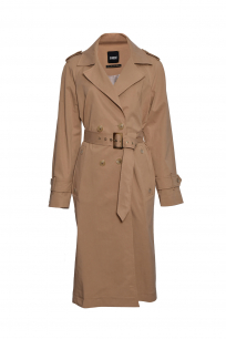 TRENCH COAT DOUBLE BREASTED EPAULETS CARAMEL