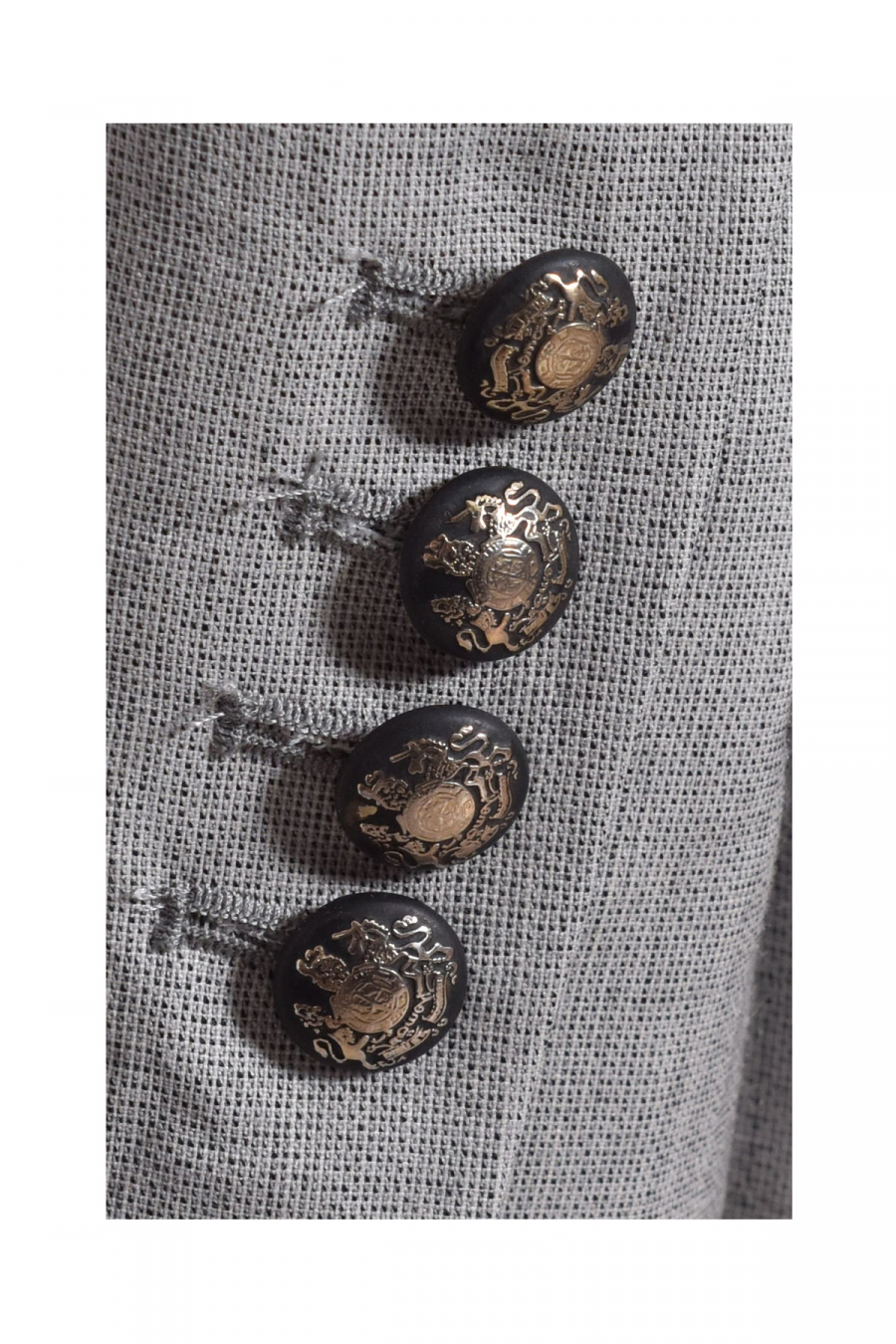 6 BUTTONS DOUBLE BREASTED GREY BIE