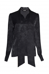 TUNIC WITH SCARF BLACK ORCHID